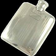 Ladies Sterling Silver Flask Art Deco Liquor or Perfume