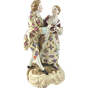 Porcelain Figurine of Young Couple Courting Volkstedt Germany