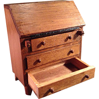 Wonderful Dollhouse Secretary Desk