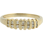Diamond Anniversary Band - 14k Yellow Gold Natural 1/4ctw Estate Wedding Ring