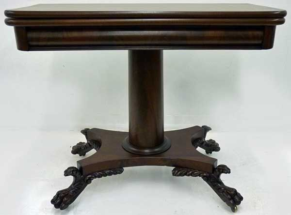 Swivel Top Game Table, Empire Revival