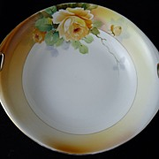 Charming Little Porcelain Nippon Bowl with Roses