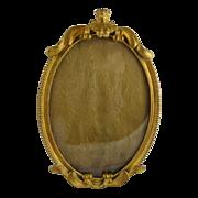 Art Nouveau Gilt Brass Frame Oval