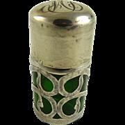 Sterling Overlay Smelling Salts or Perfume Bottle