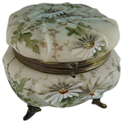 Exceptional C F Monroe Wavecrest Dresser Box Jewelry Casket