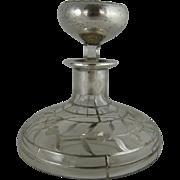 Art Nouveau Silver Overlay Perfume Bottle