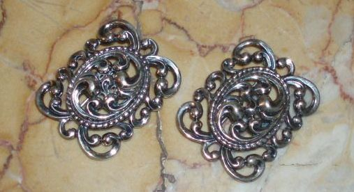 Vintage Pair of Sterling Silver Danecraft Pins or Brooches