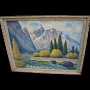Vintage Mid-Century Oil Painting