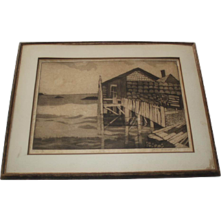 SALE Jack Bilander Etching Mexico 61