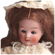 ~Downward Gazing Girl~All bisque~Hertwig ~Doll~ 5""
