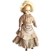 """Early Paper Mache Doll~14"""" All original Patent Washable"""