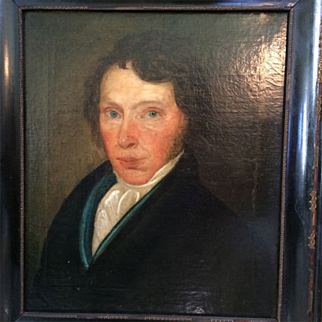 SALE Portrait of a Gentleman, PA or Germany, 19th Century