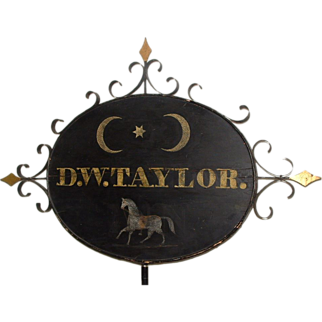 Important Double Sided Tavern Trade Sign, Massachusetts, c. 1800-1850