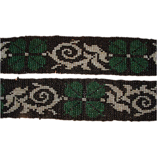 SALE Flapper Era Beaded Belt with Fringe
