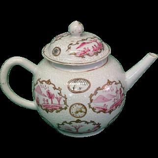 Bianco Sobra Bianco 18th Century Chinese Export Teapot