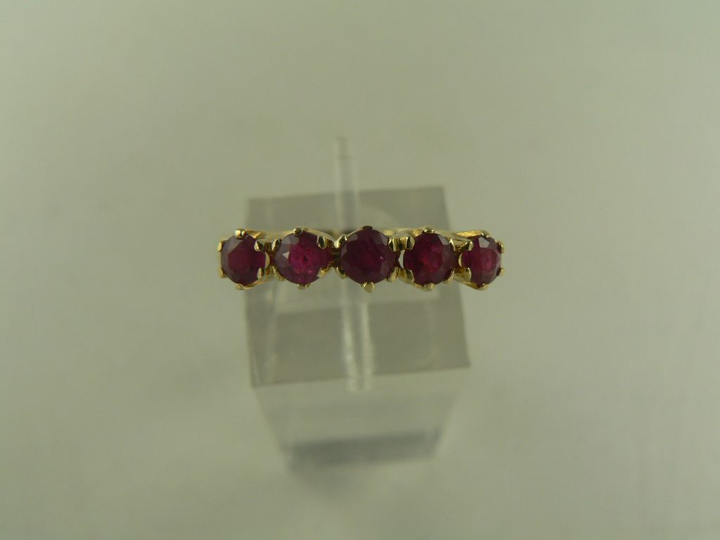 14kt Ruby Stack Band