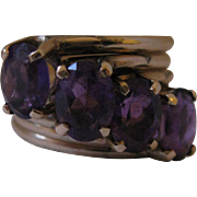14kt Amethyst Stacking Ring Set