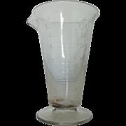 Antique 19c Measuring Cup Hand-Blown Glass Beaker