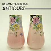 Royal Winton Hand Painted Floral Vases (Pair)