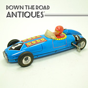 Tin Racer Car Wind-up Toy - #1 - 1955