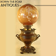 Bradley & Hubbard Banquet Lamp with Figural Handles - 1880's