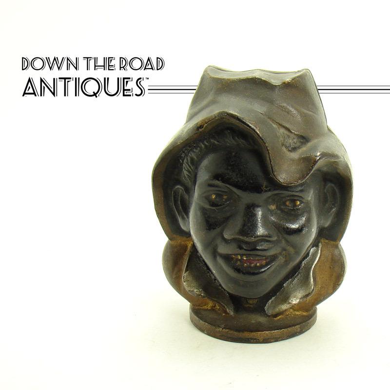 Two-Faced Cast Iron Black Boy Bank circa 1901 - Black Memorabilia