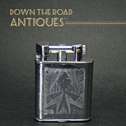 Early Dunlop Chrome Lift-arm Lighter - 1920's