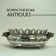 Pairpoint Candy Dish with Wolf Heads - 1890's