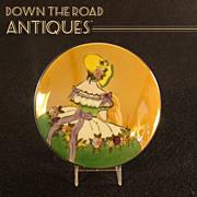 Noritake Art Deco Hand Painted Lusterware Portrait Powder Jar