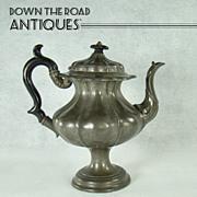 James Dixon & Sons Pewter Coffee Pot - c.1870's
