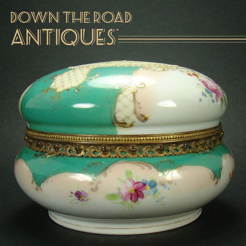 Signed Porcelain Japanese Hand Painted Dresser Box