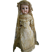 Antique Bergmann Bride Doll-Simon & Halbig head - All Original!