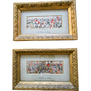 Antique Pair of Stevensgraphs in Original Frames-Rare!