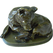 19thC Antique Dog Bronze Chihuahua by C. Valton