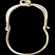 Vintage 14 K Yellow Gold Charm Pendant Holder     #216