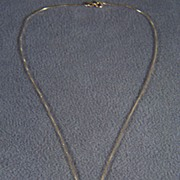 Vintage 14 K Yellow Gold  Past Present & Future Multi Diamond Necklace Chain