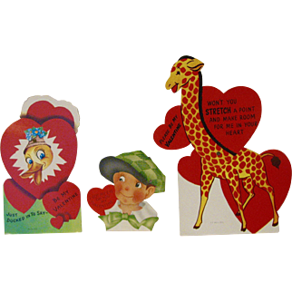 Vintage Valentines Mechanical Lot of 3