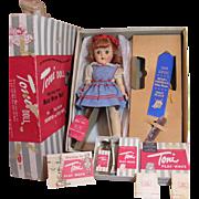 Gorgeous RARE REDHEAD Toni Doll P-91 Complete w/box plus Blue Ribbon_