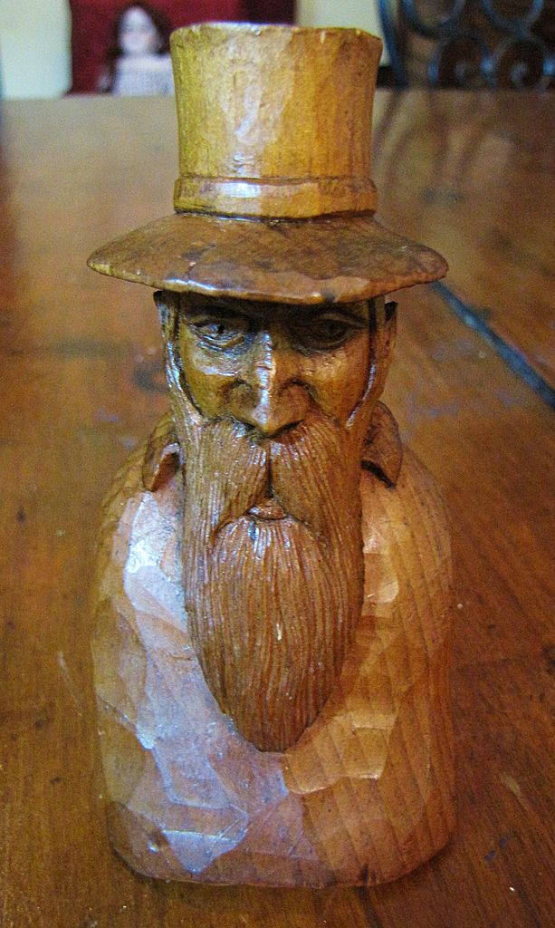 Amazing Small Hand Carved Primitive Figure, Black Forest?