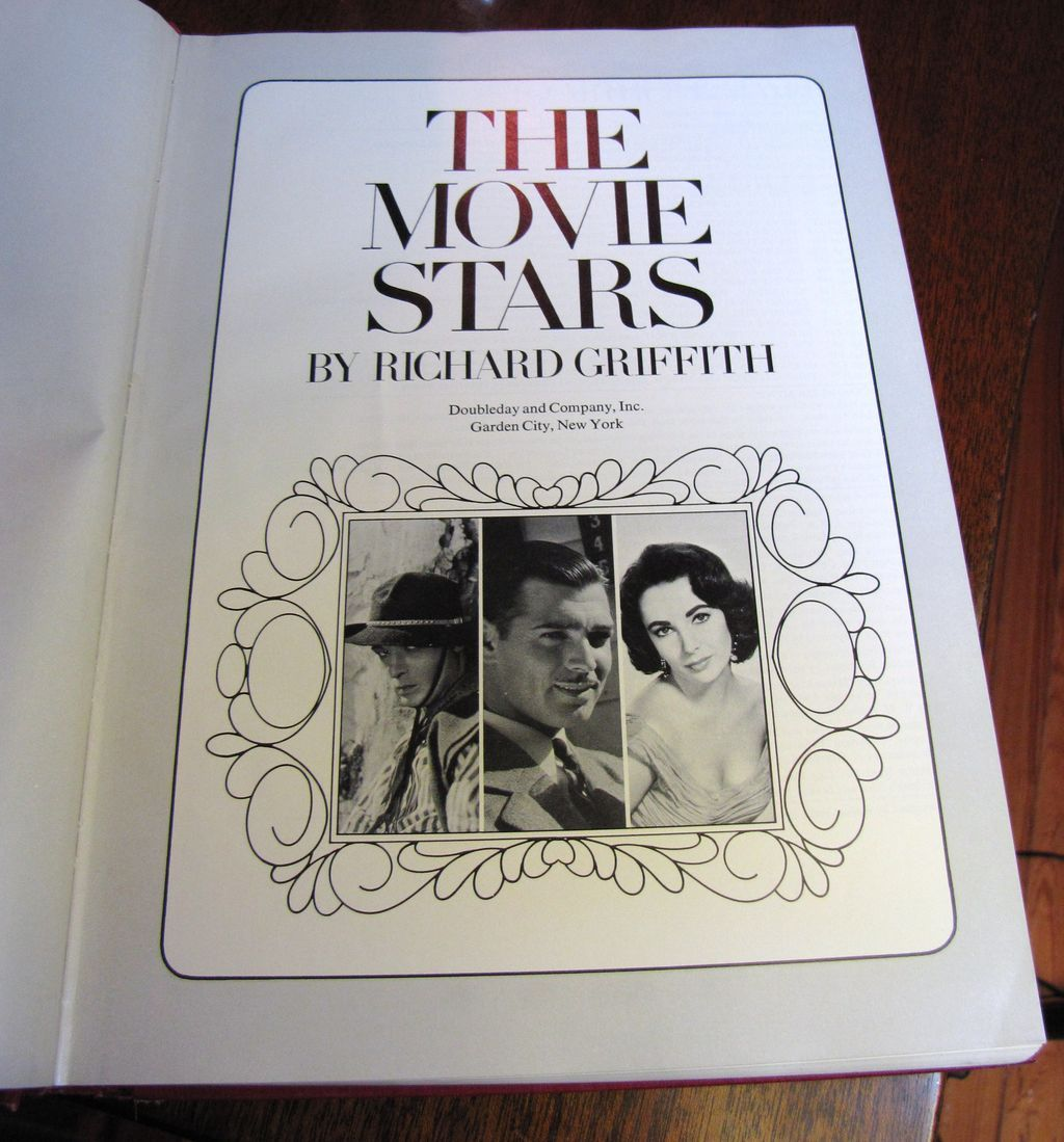 H, Aug. The Movie Stars by Richard Griffith 1970