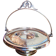 Lovely Victorian Quadruple Silver Plated Brides Basket by Vab Bergh