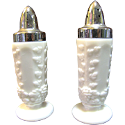 Nice Set Westmoreland Milk Glass Salt and Pepper Shakers