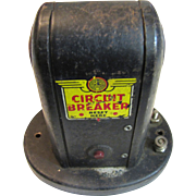 Vintage Train Automatic Signal Circuit Breaker, Tin, Made in America by Marx Toys