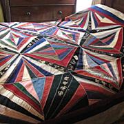 Stunning Victorian Wedding Gift Quilt, 17 Signatures,on SALE