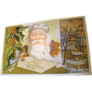 """""""Best Christmas Wishes"""" Santa Christmas Post Card"""