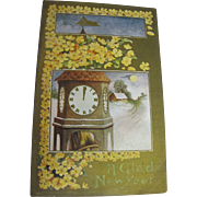 """""""A Glad New Year"""" Postcard Early 20th Century"""