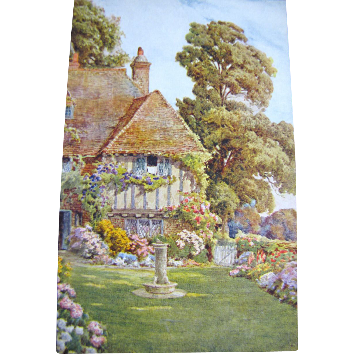 1885, An English House & Garden, Postcard Published by J Salmon, 1885