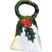 Sweet Little Lefton Christmas Bell,  Perfect, with Original Sticker!