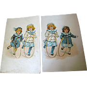 Pair of Advertising Postcards circa 1912 Hill Dental Co. Lancaster PA., No 2.