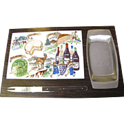 Vintage Retro Cheese Board with Knife, New In Box!